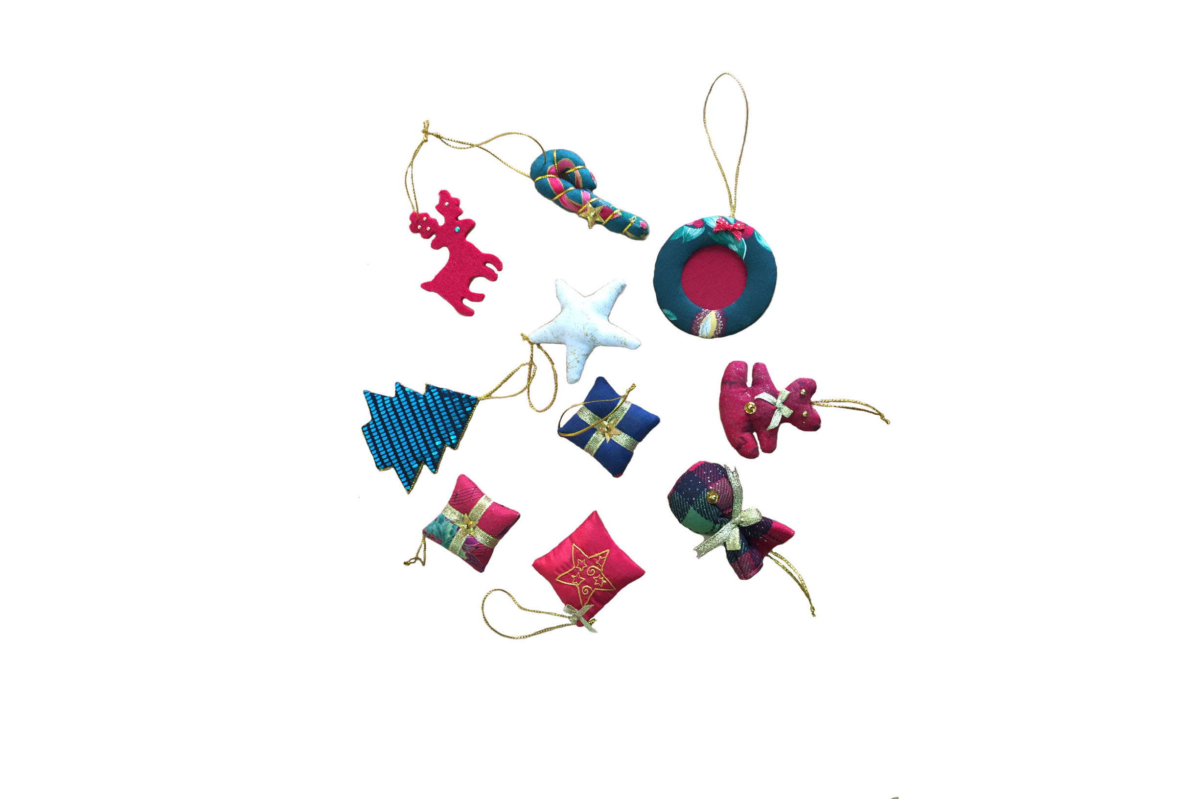 Christmas Tree Decoration Items Set Quilts Art